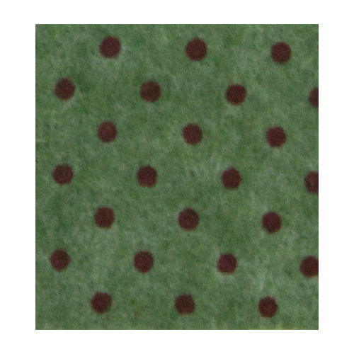 Felt dots, Olive Green melange/Red