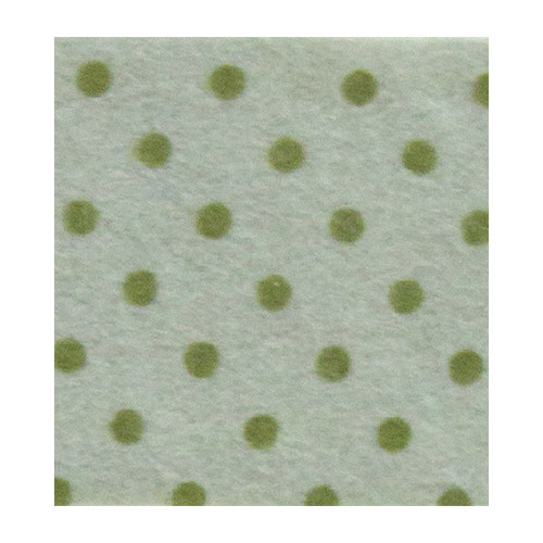 Felt dots, Grey Silver/Olive Green