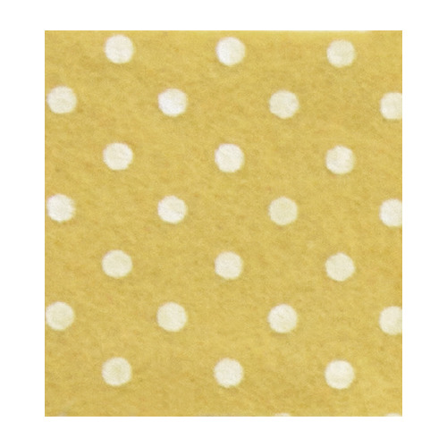 Felt dots, Yellow Pastel/Cream