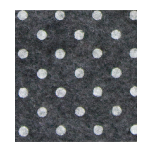 Felt dots, Dark Grey melange/White