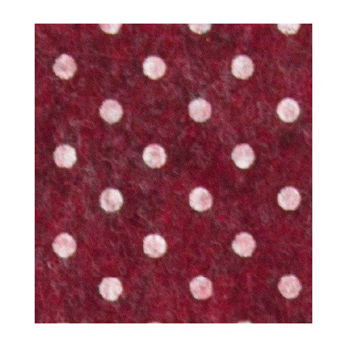 Felt dots, Red melange/White