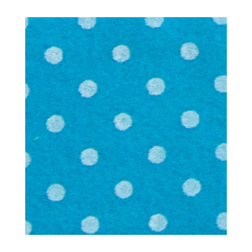 Felt dots, Mid Blue/White