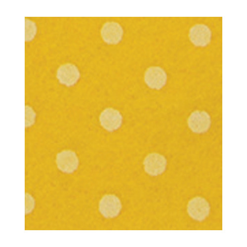 Felt dots, Maize Yellow/White