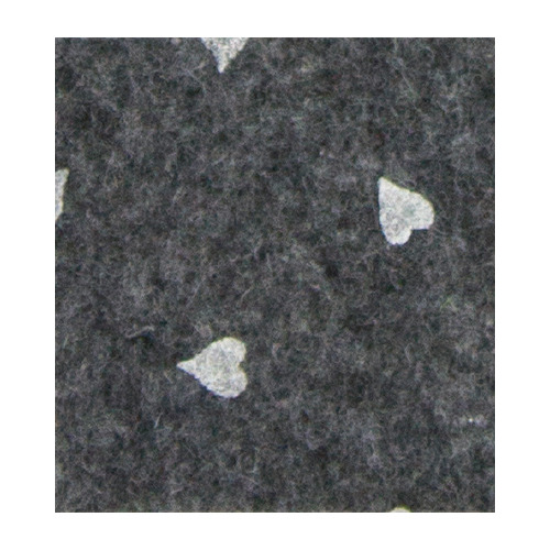 Felt hearts, Dark Grey melange/White