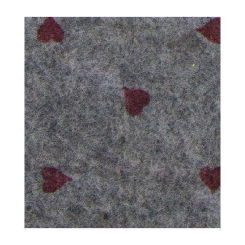Felt hearts, Grey melange/Red