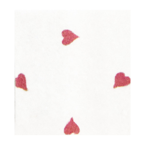 Felt hearts, White/Red