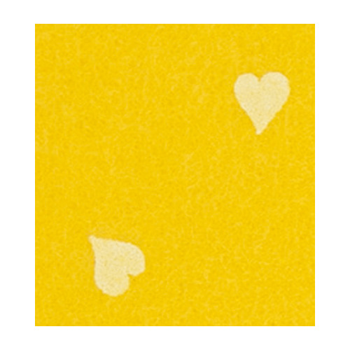 Felt hearts, Maize Yellow/White