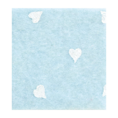 Felt hearts, Light Blue/White