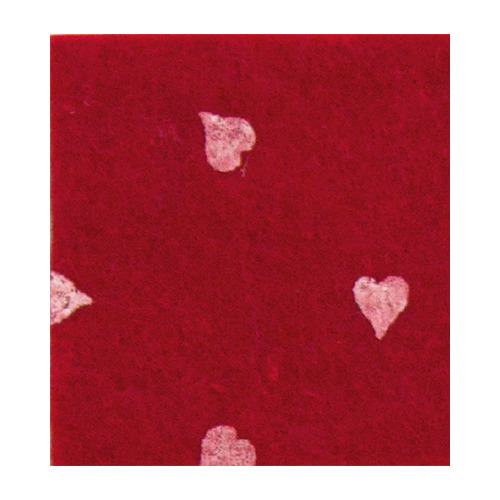 Felt hearts, Dark Red/White