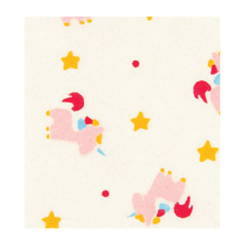 Felt unicorn, Cream/Multicolor