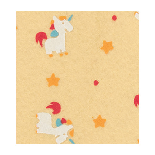 Felt unicorn, Pastel Yellow/Multicolor