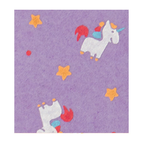 Felt unicorn, Wisteria/Multicolor