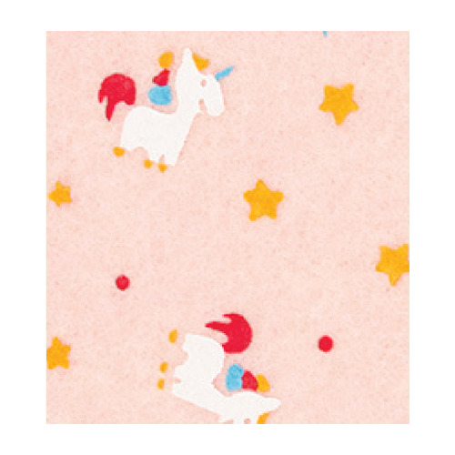 Felt unicorn, Pastel Rose/Multicolor