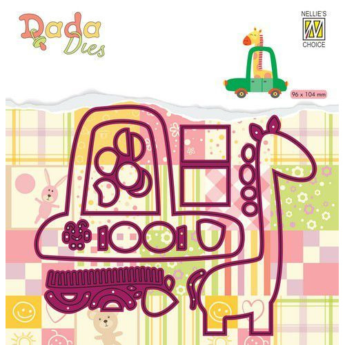 Nellie's Choice DADA Die - Giraffe in auto DDD025 (01-20)