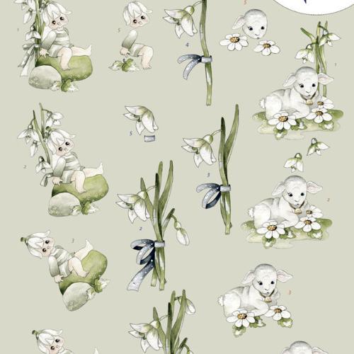 3D Knipvel - Precious Marieke - Snowflowers