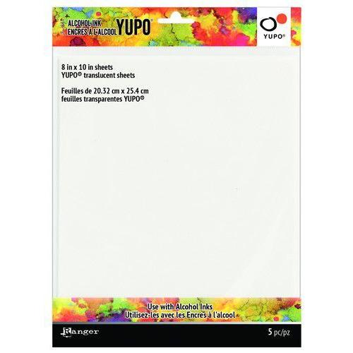 Ranger Alcohol Ink Ink Yupo Cardstock Translucent 20,3x25,4cm 5 vel TAC69751 (02-20)