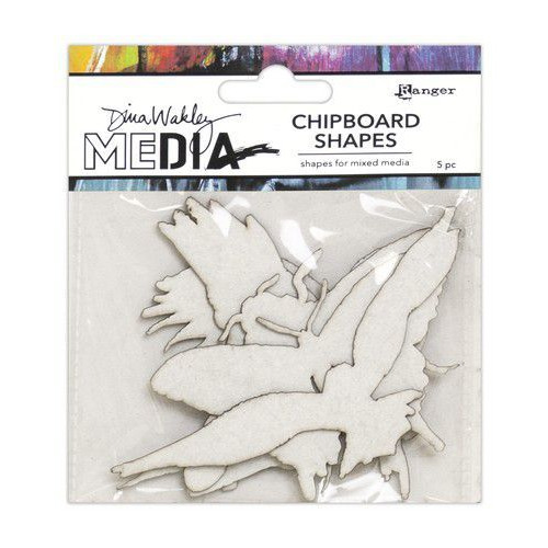 Ranger Dina Wakley MEdia Chipboard Shapes Flying MDA69270 (02-20)