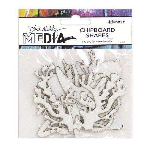 Ranger Dina Wakley MEdia Chipboard Shapes Ocean MDA69287 (02-20)