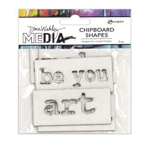 Ranger Dina Wakley MEdia Chipboard Shapes Words MDA69294 (02-20)