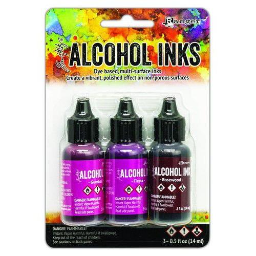 Ranger Alcohol Ink Ink Kits Pink/Red Spectrum 3x15 ml TAK69638 Tim Holtz (02-20)
