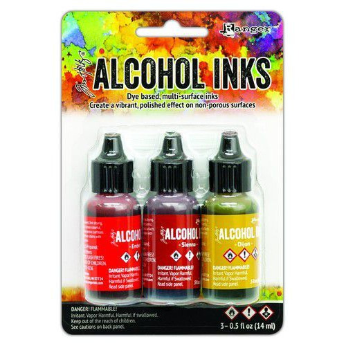 Ranger Alcohol Ink Ink Kits Orange/Yellow Spectrum 3x15 ml TAK69645 Tim Holtz (02-20)