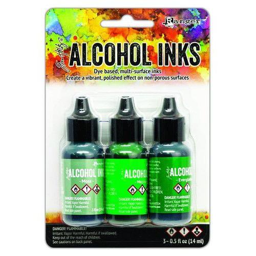 Ranger Alcohol Ink Ink Kits Mint/Green Spectrum 3x15 ml TAK69652 Tim Holtz (02-20)