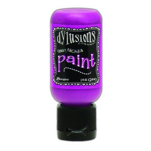 Ranger Dylusions Paint Flip Cap Bottle 29ml - Funky Fuchsia DYQ70498 (02-20)