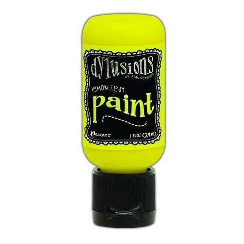 Ranger Dylusions Paint Flip Cap Bottle 29ml - Lemon Zest DYQ70535 (02-20)