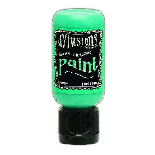 Ranger Dylusions Paint Flip Cap Bottle 29ml - Vibrant Turquoise DYQ70702 (02-20)
