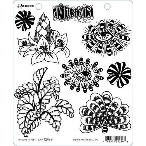 Ranger Dylusions Dyalog Clear Stamp Set Foliage Fillers DYR72966 Dyan Reaveley (02-20)