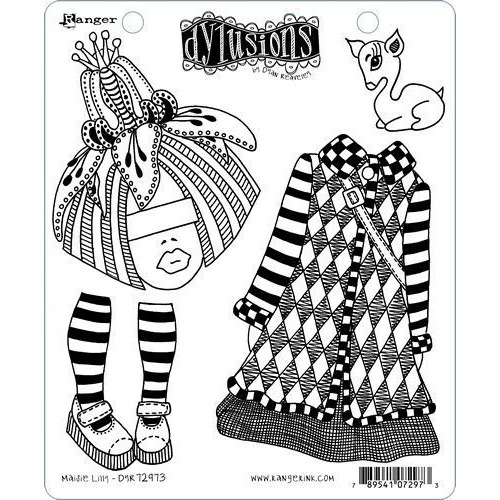 Ranger Dylusions Dyalog Clear Stamp Set Maisie Lilly DYR72973 Dyan Reaveley (02-20)