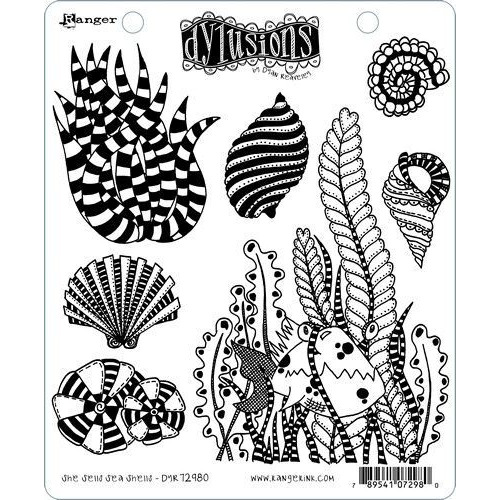 Ranger Dylusions Dyalog Clear Stamp Set She Sells Sea Shells DYR72980 Dyan Reaveley (02-20)