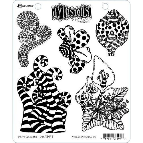 Ranger Dylusions Dyalog Clear Stamp Set Stripy Curlicues DYR72997 Dyan Reaveley (02-20)