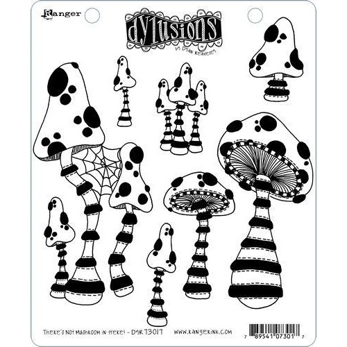 Ranger Dylusions Dyalog Clear Stamp Set There's Not Mushroom in Here! DYR73017 Dyan Reaveley (02-20)