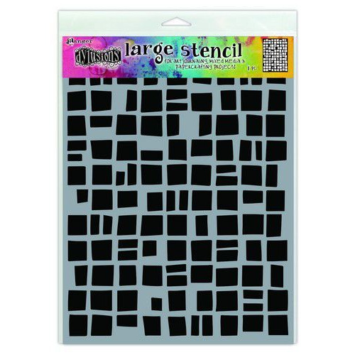 Ranger Dylusions Stencils Betsy's Block - Large DYS71488 (02-20)