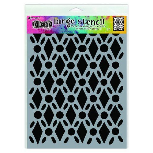 Ranger Dylusions Stencils Fancy Floor - Large DYS71501 (02-20)