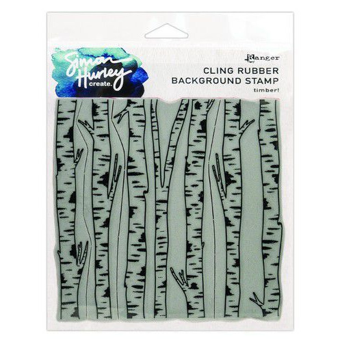 Ranger SH Cling Rubber Background Stamp 6x6 Timber! HUR71761 Simon Hurley (02-20)