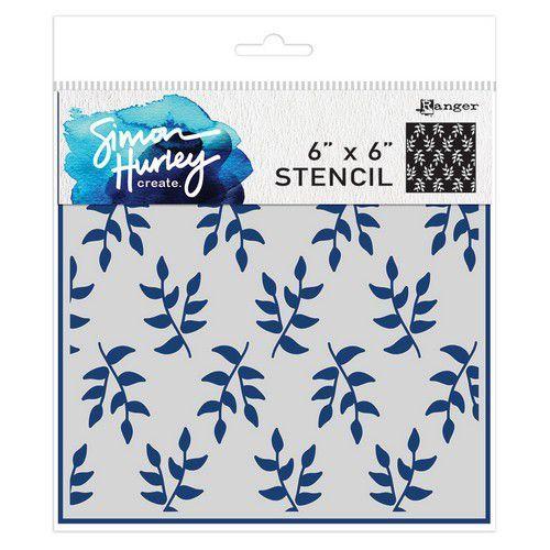 Ranger SH Stencils 6x6 Leafy Greens HUS71556 Simon Hurley (02-20)