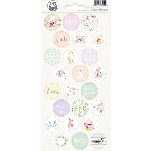 Piatek13 - Sticker sheet The Four Seasons - Spring 03 P13-SPR-13 10,5x23 cm (02-20)