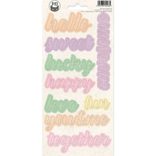 Piatek13 - Phrase sticker sheet The Four Seasons - Spring 01 P13-SPR-37 10,5x23 cm (02-20)