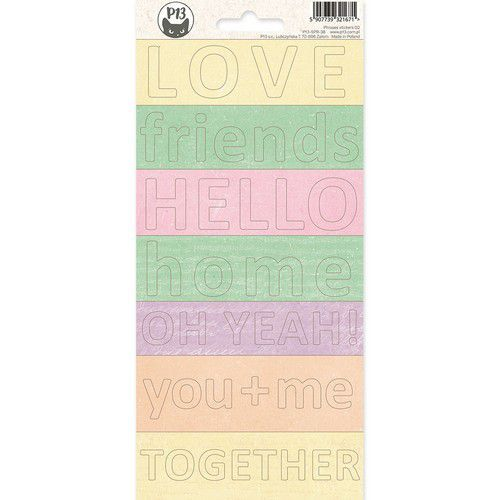 Piatek13 - Phrase sticker sheet The Four Seasons - Spring 02 P13-SPR-38 10,5x23 cm (02-20)
