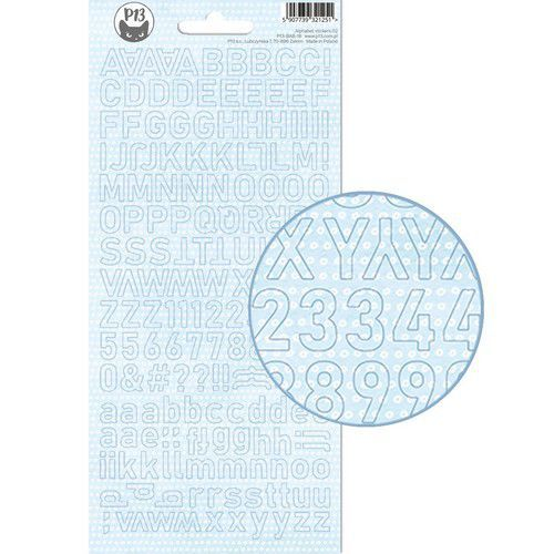 Piatek13 - Alphabet sticker sheet Baby Joy 02 P13-BAB-18 10,5x23cm (02-20)