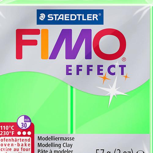 Fimo effect neon 57 gr groen