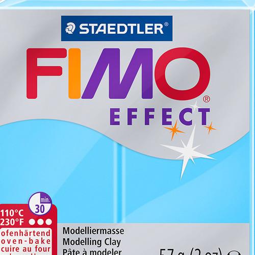 Fimo effect neon 57 gr blauw