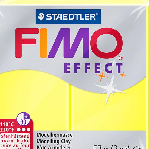 Fimo effect neon 57 gr geel