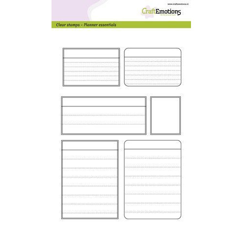 CraftEmotions clearstamps A5 - Planner essentials - kaders (03-20)