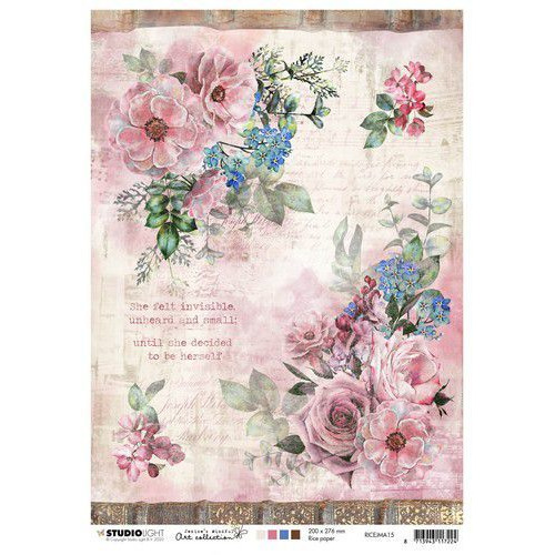 Studio Light Rice Paper A4 vel Jenine's Mindful Art 3.0 nr.15 RICEJMA15 (03-20)