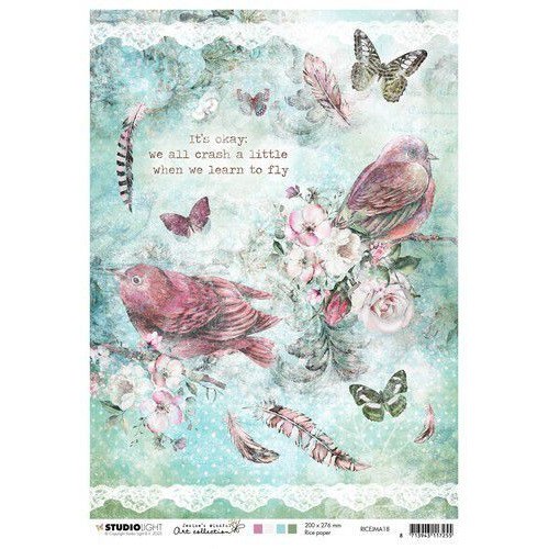 Studio Light Rice Paper A4 vel Jenine's Mindful Art 3.0 nr.18 RICEJMA18 (03-20)