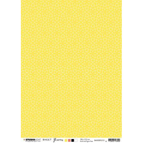 Studio Light Basis A4 Achtergrondpapier Sweet Flowers nr.312 BASISSFL312 (03-20)