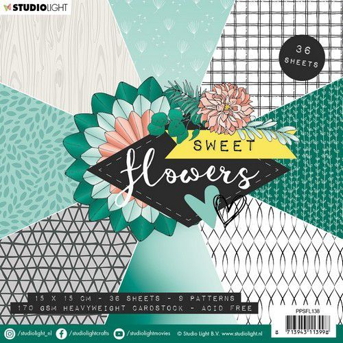 Studio Light paper pad Sweet Flowers nr.138 PPSFL138 15x15 cm (03-20)